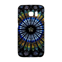 Stained Glass Rose Window In France s Strasbourg Cathedral Galaxy S6 Edge