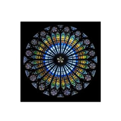 Stained Glass Rose Window In France s Strasbourg Cathedral Satin Bandana Scarf