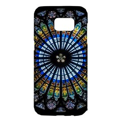 Stained Glass Rose Window In France s Strasbourg Cathedral Samsung Galaxy S7 Edge Hardshell Case