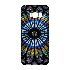Stained Glass Rose Window In France s Strasbourg Cathedral Samsung Galaxy S8 Hardshell Case