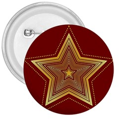Christmas Star Seamless Pattern 3  Buttons