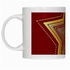 Christmas Star Seamless Pattern White Mugs