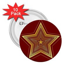 Christmas Star Seamless Pattern 2.25  Buttons (10 pack)