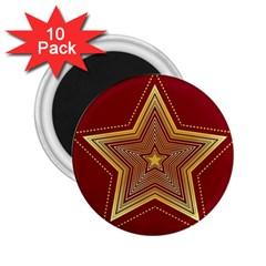 Christmas Star Seamless Pattern 2 25  Magnets (10 Pack)