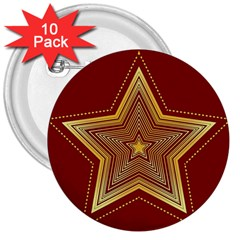 Christmas Star Seamless Pattern 3  Buttons (10 pack)