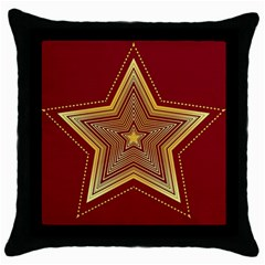 Christmas Star Seamless Pattern Throw Pillow Case (black)