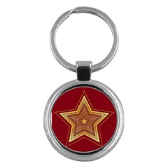 Christmas Star Seamless Pattern Key Chains (Round)