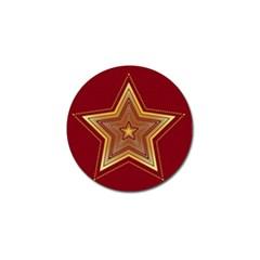 Christmas Star Seamless Pattern Golf Ball Marker