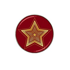 Christmas Star Seamless Pattern Hat Clip Ball Marker (4 Pack)