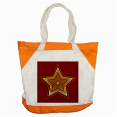 Christmas Star Seamless Pattern Accent Tote Bag