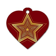 Christmas Star Seamless Pattern Dog Tag Heart (Two Sides)