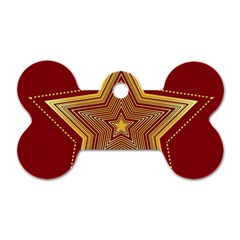 Christmas Star Seamless Pattern Dog Tag Bone (two Sides)
