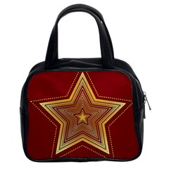 Christmas Star Seamless Pattern Classic Handbags (2 Sides)
