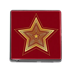 Christmas Star Seamless Pattern Memory Card Reader (square)