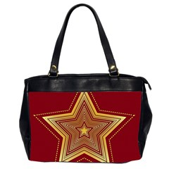 Christmas Star Seamless Pattern Office Handbags (2 Sides)