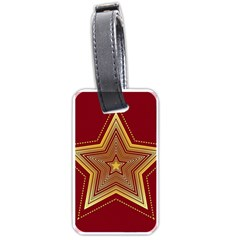 Christmas Star Seamless Pattern Luggage Tags (one Side)