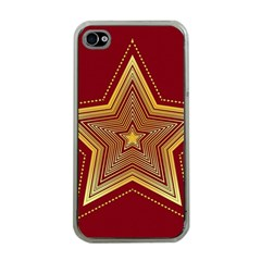 Christmas Star Seamless Pattern Apple Iphone 4 Case (clear)