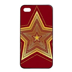 Christmas Star Seamless Pattern Apple Iphone 4/4s Seamless Case (black)