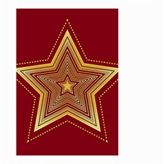 Christmas Star Seamless Pattern Small Garden Flag (two Sides)
