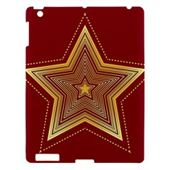 Christmas Star Seamless Pattern Apple Ipad 3/4 Hardshell Case