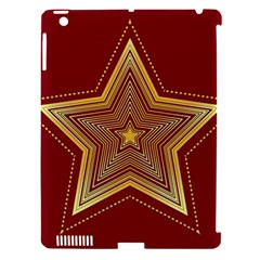 Christmas Star Seamless Pattern Apple Ipad 3/4 Hardshell Case (compatible With Smart Cover)