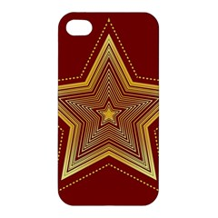 Christmas Star Seamless Pattern Apple Iphone 4/4s Premium Hardshell Case