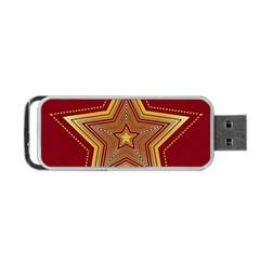 Christmas Star Seamless Pattern Portable Usb Flash (two Sides)