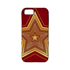 Christmas Star Seamless Pattern Apple Iphone 5 Classic Hardshell Case (pc+silicone)