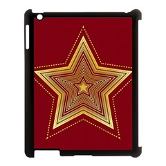 Christmas Star Seamless Pattern Apple Ipad 3/4 Case (black)