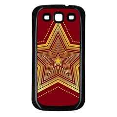 Christmas Star Seamless Pattern Samsung Galaxy S3 Back Case (black)