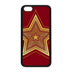 Christmas Star Seamless Pattern Apple Iphone 5c Seamless Case (black)