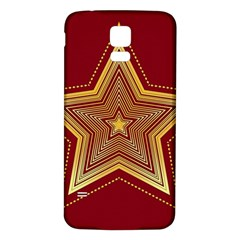 Christmas Star Seamless Pattern Samsung Galaxy S5 Back Case (white)