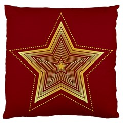 Christmas Star Seamless Pattern Large Flano Cushion Case (two Sides)