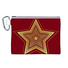 Christmas Star Seamless Pattern Canvas Cosmetic Bag (l)