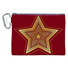 Christmas Star Seamless Pattern Canvas Cosmetic Bag (xxl)