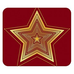 Christmas Star Seamless Pattern Double Sided Flano Blanket (Small)