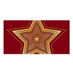 Christmas Star Seamless Pattern Satin Shawl