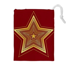 Christmas Star Seamless Pattern Drawstring Pouches (extra Large)