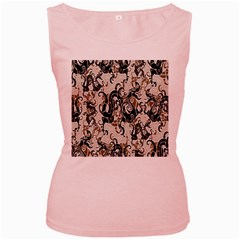 Dragon Pattern Background Women s Pink Tank Top
