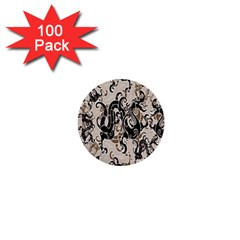 Dragon Pattern Background 1  Mini Buttons (100 Pack)