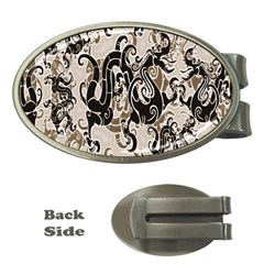 Dragon Pattern Background Money Clips (Oval)