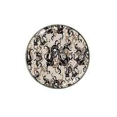Dragon Pattern Background Hat Clip Ball Marker (4 Pack)