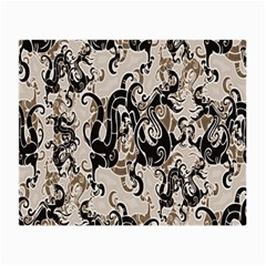 Dragon Pattern Background Small Glasses Cloth (2-Side)