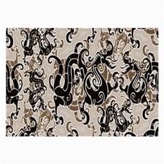 Dragon Pattern Background Large Glasses Cloth