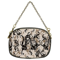 Dragon Pattern Background Chain Purses (two Sides)