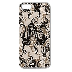 Dragon Pattern Background Apple Seamless Iphone 5 Case (clear)
