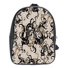 Dragon Pattern Background School Bags (xl)