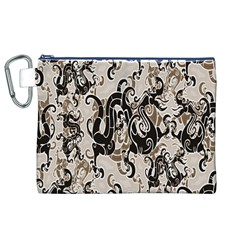 Dragon Pattern Background Canvas Cosmetic Bag (XL)