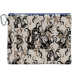 Dragon Pattern Background Canvas Cosmetic Bag (XXXL)