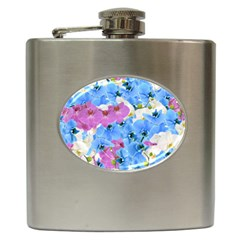 Tulips Floral Pattern Hip Flask (6 oz)